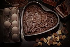Heart in the kitchen (JossieK) Tags: myheartwillgoon chocolate baking brownies heart shape eggs kitchen cake sweet valentine