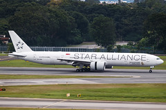 SINGAPORE AIRLINES B777-300ER 9V-SWI STAR ALLIANCE 003 (A.S. Kevin N.V.M.M. Chung) Tags: aviation aeroplane aircraft airport sin changi plane spotting singapore airlines apron staralliance runway