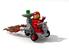 Radar Rocket Tricycle (David Roberts 01341) Tags: lego tricycle rover febrovery space scifi minifigure vehicle ldd povray classic