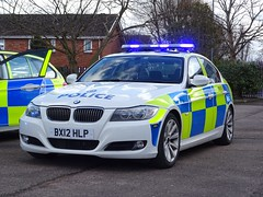 West Midlands Police BMW 330d Traffic Car BX12 HLP (FSPL110), Birmingham. (Vinnyman1) Tags: west midlands police bmw 330d traffic car bx12 hlp fspl110 fleet services park lane spare wmp rpu roads unit anpr automatic number plate recognition cctv closed circuit television enabled birmingham england uk united kingdom gb great britain emergency rescue 999 the championship second derby avfc aston villa football club villains bcfc blues zulu warriors youth hardcore steamers ccrew