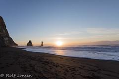 Reynisfjara beach (rjonsen) Tags: sunrise iceland basalt rock sand beach morning winter light troll sun