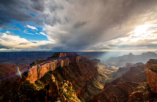 High Res Wide Angle Grand Canyon Breaking Storm! God Rays Fine Art Landscape Photography! Nikon D810 Sunset Photos of North Rim Grand Canyon Arizona Overlook! Sun Rays Arizona! Dr. Elliot McGucken Fine Art Landscape & Nature Photography for LA Gallery!