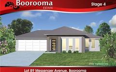 95 (Lot 89) Messenger Avenue, Boorooma NSW