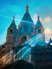Arianism...Magical Thinking in the Orthodox Church...though whether their inaction springs from courage to resist heresy or fear of schism is perhaps an open question...Alexander Nevsky Cathedral, Paris (bernawy hugues kossi huo) Tags: александра невского alexander nevsky cathedral paris schism magic ritual rider arianism calling holy apology dialogue religion arius church above divine