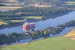 Kiel Canal / Nord-Ostsee-Kanal / Eider River, Germany (peterkaroblis) Tags: kielcanal nordostseekanal canal schleswigholstein ballonfahrt balloonride landschaft landscape