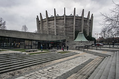 Panorama Racławicka (Maciej Dusiciel) Tags: architecture architectural city urban modernism brutalism concrete sony samyang wrocław wroclaw poland travel europe building