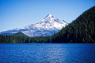 Mount Hood Viewed From Lost Lake Resort