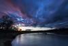 Abends an der Agger (Jörgenshaus) Tags: nrw rheinland agger lohmar wolken sonnenuntergang lzb day cloudy