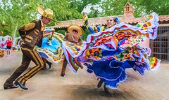 Leaning In (Wes Iversen) Tags: arizona cincodemayo hss nikkor18300mm sedona sliderssunday tlaquepaqueartscraftsvillage colors costumes dancers dancing digitalart dresses men painterly performances performers women