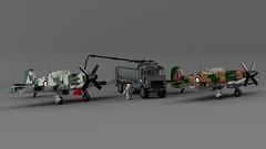 Hooper Hawk Mk.I & Warhawk Mk.Ib (Lego Pilot) Tags: lego ldd wwii plane aircraft achtfaden fighter hooper dc seahawk blender