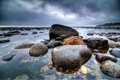 Receding tide at Sombrio (Joel Apple) Tags: seaweed rocks ocean algae northamerica vancouverisland pacificnorthwest sun lowtide sunset sombriobeach britishcolumbia pacific clouds