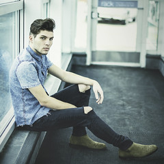 Featured Model: Vinny (Abigail Harenberg) Tags: featuredmodelah feature featured model ah photographer photoshoots teenagers outdoors outside out available day light fashion look gorgeous handsome young guy boots sitting relaxing daylight