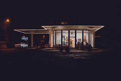 gas station   l   part2   l   2018 (weddelbrooklyn) Tags: hamburg lichter beinacht nachts tankstelle oldtimer oldtimertankstelle brandshof nikon d5200 nachtaufnahme lights atnight night gasstation nightphotography building buildings window windows opel gebäude fenster reklame werbung neonlichter neonlights