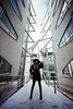 Kaca (kostak89) Tags: canoneos5d shootwideopen fashion black hair girl hat naturallight wide arhitecture glass refelction