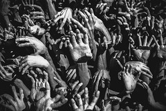 Hands from hell (Patrick Foto ;)) Tags: abstract art artistic asia background buddhism buddhist charity chiang composition concept concrete creative culture devil finger ghost ground halloween hand hands hell help hope horror human khun many modern motion pattern people pot rai reaching religion rong sculpture sign spirit stone style symbol temple thailand theme wat white zombie zombies
