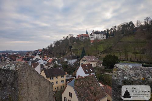 Blick vom Uhrturm Oppenheim (ohne Sicht auf Kirchturmuhr)