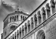 San Vigilio cathedral (fabricata) Tags: san vigilio cathedral trento italy church blackandwhite travel trentino