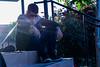 Thinking. (Celia Rico.) Tags: guy chico boy sun sunlight summer white man hombre escalones barandilla flowers foto fotografia fotografía flower flor flores funny friend friends photo photography picture pic portrait persona person beautiful retrato oscuridad oscuro bonito bonita amigo dark fear gafas glasses sunglasses sol sky nature naturaleza black