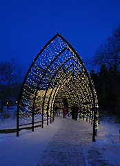 Frigid Blue (Cindy's Here) Tags: frigidblue lights trail theforks winnipeg manitoba canada canon 17 52in2018challenge