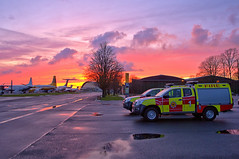TACR sunset 4 (Mark Dx Fire) Tags: duxford airfield rescue fire fighting service appliances sunset isuzu tacr3 terberg 1 2
