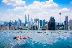 Swimming pool on roof top with beautiful city view kuala lumpur malaysia (Patrick Foto ;)) Tags: architecture asia bay beautiful beauty building business city cityscape district famous high hotel infinity landmark landscape luxury malaysia marina modern outdoors people place pool relax relaxation roof rooftop sands scene singapore sky skyline skyscraper structure swimming tall top tourism tourist tower town travel urban vacation view water kualalumpur federalterritoryofkualalumpu federalterritoryofkualalumpur my
