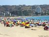 Ω (▶MacLeod◀) Tags: laherradura coquimbo playa beach colores colorfull sombrillas quitasol maqueta