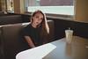 McDonald's Photo Studio (Vincent F Tsai) Tags: portrait fashion editorial art indoor girl restaurant mcdonalds beauty beautiful light table seat sigma24mmf14dgart metabones speedbooster panasonic lumixgx8 wide angle environmental