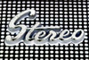 Subtracted, inverted, minimum stereo -[ HSS ]- (Carbon Arc) Tags: sliderssunday stereo stereophonic emblem logo script perforations pattern subtract invert minimum layer filter photoshop