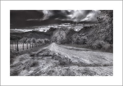Approach Rd to the Grafton Ghost Town, Grafton, UT (Vincent Galassi) Tags: lasvegas nevada usa grafton ut ghost town road black white landscape