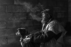 *Li, the old shepherd from Dongchuan* (Albert Wirtz @ Landscape and Nature Photography) Tags: hund dog shepherd schäfer li oldshepherd dongchuan china rural people menschen chinesen chineseman black white blackandwhite schwarzweiss blackwhite albertwirtz smoke rauch dunst dusty dunstig nikon d810 southwestchina südwestchina kunming rauchen smoking highiso bart bärtig artlibres
