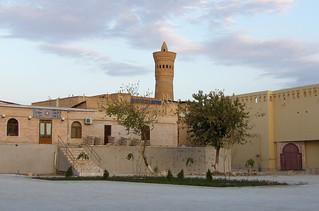 Vue sur le minaret Kalon, Boukhara