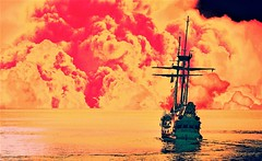 Rime of the ancient mariner (sirhowardlee) Tags: ship sea sailing clouds distance seafaring mast elmar barco journey