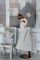 Blythe dress with collar (Elena_art) Tags: blythe ooak custom azone pureneemo s handmade dress commission