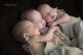 photography of triplets