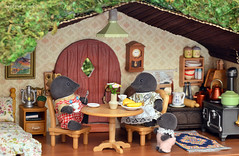 Sylvanian Families - Mole hill interior (Sylvanako) Tags: sylvanian toy toys diorama miniature crafting families family calico critters flocked cute house mole happy baby