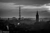 Milanese sunset monochrome (Gian Floridia) Tags: milanese milano seustorgio bn bw backlight belltower bienne campanile cittadino clouds controluce monochrome nuvole panorama silhouette sunset tower tramonto urban lombardia italy it