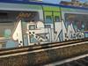 1053 (en-ri) Tags: pevs crew bianco nero lilla indaco 17 2017 train torino graffiti writing