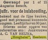 Heelsum Utrechtseweg 88 Beijma Hooghelei Advertentie juffrouw voor de huishouding Collectie HGR (Historisch Genootschap Redichem) Tags: heelsum utrechtseweg 88 beijma hooghelei advertentie juffrouw voor de huishouding collectie hgr