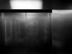Abstract 2018 #1 (DigitalMB) Tags: lines public metal door elevator lift wall bw blackandwhite abstract 1
