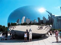 The Chicago Bean-USA (johnfranky_t) Tags: riflessi johnfranky t tz5 sole sun azzuggo cicago chicago illinois usa