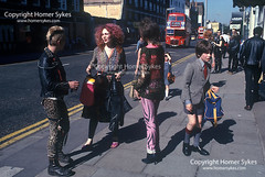 1970s PUNKS KINGS ROAD CHELSEA LONDON (Homer Sykes) Tags: punk teen teenager teenage boys kingsroad chelsea london youngadults 1970s 70s 1979 schoolboy contrast school uniform people person britain england uk british english archivestock britishsociety londonstock fashion fashionable greaterlondon gbr