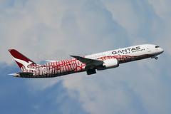 Qantas Boeing 787-9 Dreamliner VH-ZND (Mark Harris photography) Tags: sydney plane aviation canon 5d 800mm boeing 787 qantas yssy speciallivery