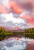 Sunset Clouds Over Manzanita Lake (optimalfocusphotography) Tags: lassenvolcanicnationalpark mountlassen landscape sunset nature reflection reflections lake manzanitalake northerncalifornia california water clouds sky usa snow nationalpark spring lassenpeak