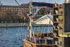 Tauben auf der Stange (steveNDr) Tags: taube dove sun ship water kiel marine sonnenuntergang