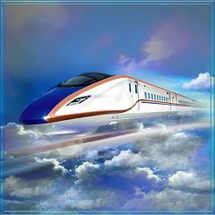 Bullet train (jaci XIII) Tags: trem transporte carro surrealismo nuvem train transport car surrealism cloud