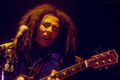 Marley performing at Madison Square Gardens on June 17th, 1978. (worldwarXP) Tags: 1979 bob marley singer singing music alone performing bobmarley rasta reggae guitar