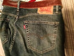 Reliable Comfort (Haytham M.) Tags: levi's leather belt rugged levis durable comfortable reliable jeans