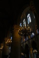 Notre-Dame de Paris (Sean Munson) Tags: france paris church stainedglass cathédralenotredamedeparis notredamedeparis cathedral notredame ourladyofparis interior