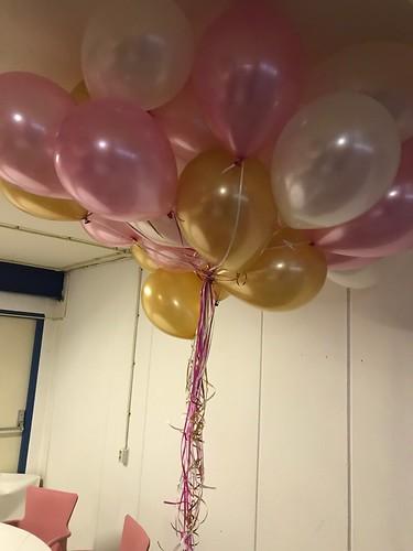 Heliumballonnen Metallic Wit, Roze en Goud