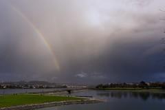 Rainbow Song........... (hilariopv) Tags: hilarioperez nubes oburgo ria arcoiris arcodavella riadoburgo